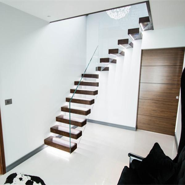 Interior Glass Railing Wood Stair Kit Cantilever Stairs Of Item 49428686