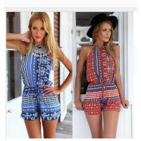 Wholesale Summer Style Rompers Womens Jumpsuit Floral Print Bodysuit Sexy Backless from china suppliers