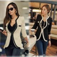 Wholesale Women Fashion Slim Coat Casual Jackets Long Sleeve V-Neck Outerwear from china suppliers