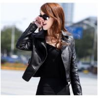 Wholesale New Winter Women Motorcycle Leather Coat Jacket from china suppliers