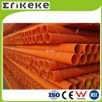 Wholesale PVC pipe and fittings pvc orange colored corrugated plastic pipe from china suppliers
