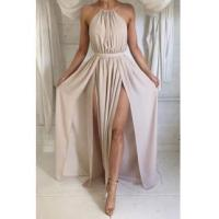 Wholesale Halter Front Spilt Backless Evening Gowns Sexy 2016 Summer Party DressesItem Code: BA2735 from china suppliers