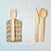 Kitchenware Disposable Cutlery Wood Knife