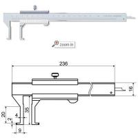 Wholesale Inside Groove Vernier Calipers With Flat Points , Series:VC11 from china suppliers