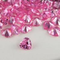 Buy cheap heart shape pink cubic zircon cz gems from wholesalers