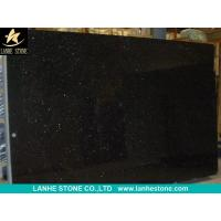 Wholesale Black Galaxy Granite Slabs Tiles India Black Granite Polished Flooring Tiles Walling Tiles from china suppliers