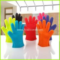Wholesale Kitchen Heat Resistant Silicone Oven Mitt Gloves FYD-001 from china suppliers