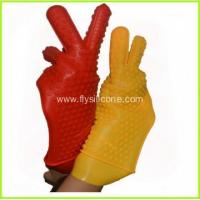 Wholesale 2015 Newest Heat Resistant Silicone Kitchen and BBQ Gloves FYK-1047 from china suppliers