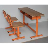China Plywood Double Height Adjustable School Desk And Chair on sale