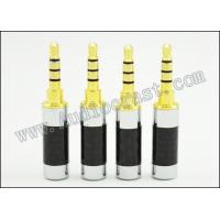 Wholesale 2P Gold Plated Carbon Fiber 3.5mm 4pole stereo Earphone plug Audio Connector mic from china suppliers