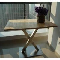 Wholesale Burlywood Wooden Rectangular Dining Table from china suppliers