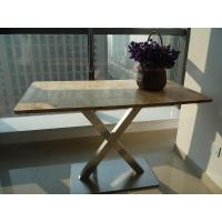 Wholesale Burlywood Wooden Rectangular Restaurant Table from china suppliers