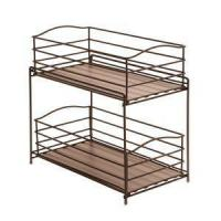 Wholesale 2-Tier Sliding Basket Cabinet Organizer - Bronze from china suppliers