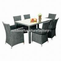 Wholesale outdoor dining furniture with aluminum frame textilene table