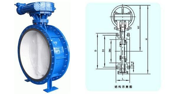 Large diameter butterfly valve of item