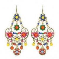 Wholesale Colorful Flower Earrings from china suppliers
