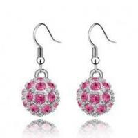 Wholesale Crystal Ball Earrings from china suppliers