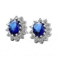 Wholesale Blue Crystal Earrings from china suppliers
