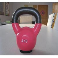 Wholesale Vinyl/Neoprene coated kettlebell with rubber base plate from china suppliers