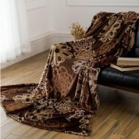 Wholesale Brown Hollow Out Pattern Printed Flannel Blankets Blankets & Throws from china suppliers