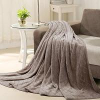 Wholesale Flannel brush blanket---Camel from china suppliers