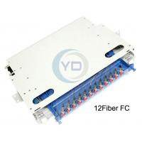 Wholesale 144/96/72/48/24/12Core/Fiber ODF 19inch rack mount cassette module with splice tray from china suppliers