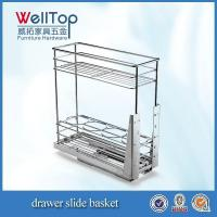 Wholesale Chrome steel kitchen wire pull-out basket from china suppliers