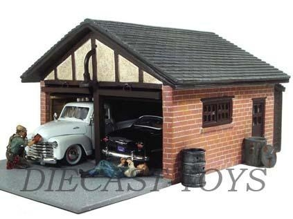 Ad 51591 american diorama 1 24 double garage building of for American garage builders