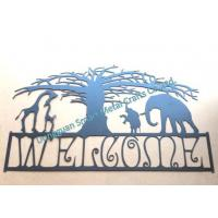 Wholesale African style Metal Welcome sign Laser cut metal wall sign from china suppliers