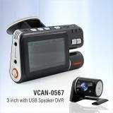 "China VCAN0567 Black 3"" Dual Camera DVR with GPS records, G-sensor, USB, Speaker, TF on sale"