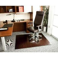 China Area Rugs 4In Slat 48x60 Dark Cherry Bamboo Roll-Up Chair Mat on sale