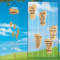 Wholesale Power of Faith Footprints Wind Chime from china suppliers
