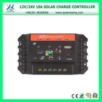 Wholesale QWP-SC1024U2016 New 10A 12/24V LED dual USB & DC Light port PWM Solar Charge Controller from china suppliers