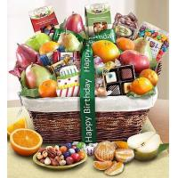 Wholesale Happy Birthday Fruit & Sweets Basket NO.5 delivery to taiwan from china suppliers