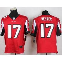 Wholesale Nike Falcons #17 Devin Hester Red Team Color Men's Stitched NFL Elite Jersey from china suppliers