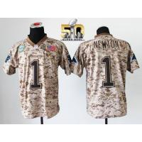 China Nike Panthers #1 Cam Newton Camo Super Bowl 50 Men's Stitched NFL New Elite USMC Jersey on sale
