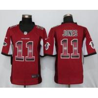 Nike Falcons #11 Julio Jones Red Team Color Men's Stitched NFL Limited Strobe Jersey