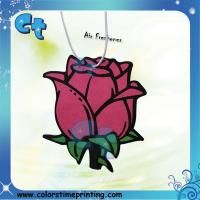 2mm (cotton-paper) paper air freshener in flower shape