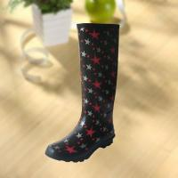 Fashion Star Pattern Rubber Knee Boot For Woman