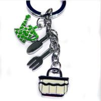 Wholesale silver tablewares keychain from china suppliers