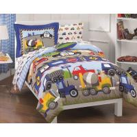 Wholesale Blue Comforter Dream Factory Trucks Tractors Cars Boys 5-Piece Comforter Sheet Set, Blue Red, Twin from china suppliers