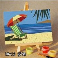 Wholesale sea cape oil painting by numbers -kid's painting kit-diy art set-sketching by numbers 10*15cm from china suppliers