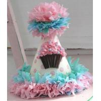 Wholesale Pink Polka Dot Cupcake Birthday Party Hat from china suppliers