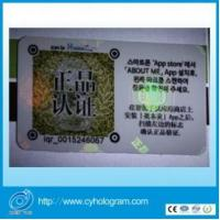 Wholesale Hologram Transparent film transfer onto PVC card from china suppliers