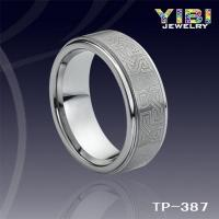 Wholesale 8mm Celtic Tungsten Carbide Ring,Engraved,Stepped Edges&Brushed TP-387 from china suppliers