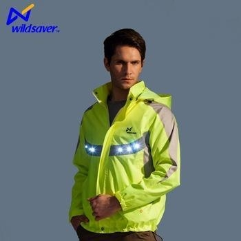 Quality Warning light flash LED reflective motorcycle police jacket for sale