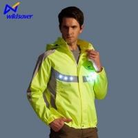Wholesale china wholesale LED reflective biker waterproof jacket from china suppliers