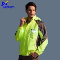 Wholesale New style 100% polyester long sleeves led reflective windproof jacket from china suppliers
