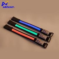 Buy cheap Led flashlight recycled nylon wristband with USB rechargeable battery box from wholesalers