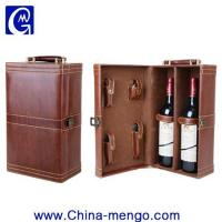 Two Bottle Of Whiskey Packing PU Leather Wine Box